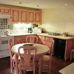 Kitchen in the suite.. Great for Families or staying in room.