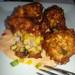 Crawfish fritters. Excellent!