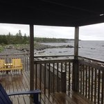 view from the deck of cottage 20