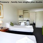 City Edge Treasury - family two singles plus double