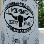 No Brand Burger Stand - sign on road