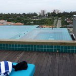 Roof top mini infinity pool