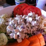 Chicken Salad Platter  HUGE $9-10 could only eat about a third of it, lots of veggies!