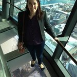 Glass floor at the Sky Tower