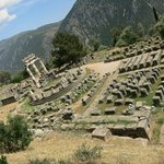 Circular Temple of Athena Pronaia Sanctuary in Delphi