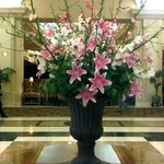 Lovely lobby flowers