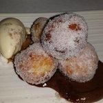 Fried Dough, Chocolate, Toffee Ice Cream