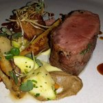 Lamb Loin, Belly & Tongue with Charred Vegetables