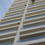 View of balconies from floor level