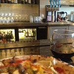 Pizza, wine and a seat at the bar
