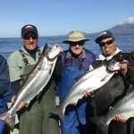 A fabulous day fishing and typical king salmon
