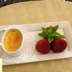 Creme Brulee and Santa Maria strawberries (!!)