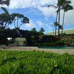 Pool at the Kauai Beach Resort next door where you could use facilities.