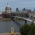 Millennium Bridge and St. Paul's Cathedral - viewed from Tate Modern