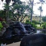 View from restaurant at the Kauai Beach Resort restaurant next door