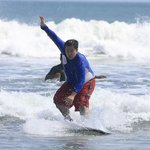 Size shouldn't be a hindrance. Anyone can surf!