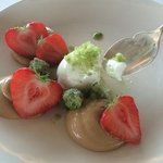 skyr sorbet and icelandic strawberries