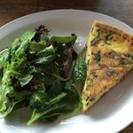 quiche of the day with a salad