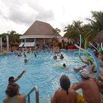 animation dans la piscine