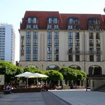 The delightful Berlin Hilton on a gorgeous plaza by the concert house, restaurants, shopping++.