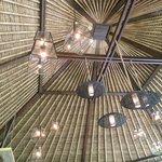 Le plafond de la salle à manger…Un bijoux de décoration