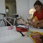 bycicle stands in room