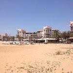 Agadir Beach - 10 minutes walk down to beach from hotel. 10 dirhams (0.60p) in petit taxi