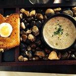 Mushroom soup - delicious!