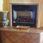 fireplace inside room