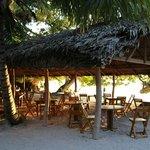 Sala ristorante sulla spiaggia