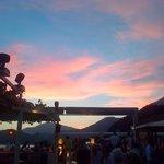 The start of sunset