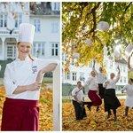 Kokkelaget i hagen / Our team of chefs in the garden