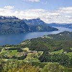 Utsikt over Gloppefjorden