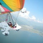 Flying over Pokhara