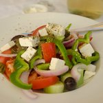 Traditional greek salad - full of rich taste!