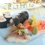 sushi at the hotel