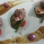 Filet Mignon de Porc Palet de Patates Douces et son Jus aux Morilles..