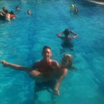 in hotel pool
