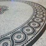 Detailed mosaic tiling