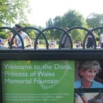 Sign for Diana Fountain
