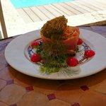 Salade melon jambon cru un vrai régal !!!