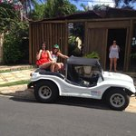 Beach Buggy picking us up from the hotel