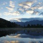 Lake Matheson at sunrise
