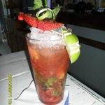 Mojito with strawberry mmmmmm