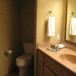 toilet area = slightly claustrophobic