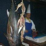Вкусная рыба Тунец и прекрасный повар,который ее готовит