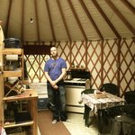 our yurt-you can't see the skylight in the ceiling in this shot