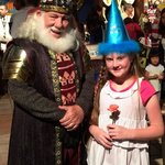 My daughter with the King and the flower she caught from our knight