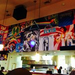 Cool murals inside Albany location.