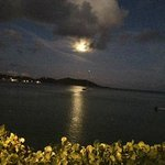 Full moon over Grand Case Bay